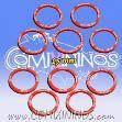 25mm Strength Skill Rings - Red