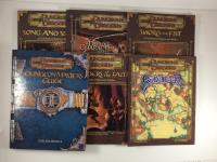 Dungeons & Dragons 3.0 supplement Collection - 5 Books & Character Sheets!