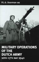 Military Operations of the Dutch Army - 10th-17th May 1940