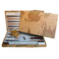 Backgammon w/Vintage Map Design
