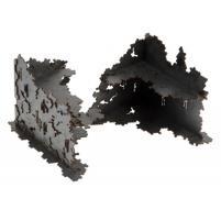 2x L-Shaped Necrotek Ruin (Gunmetal) (Pre-Painted)