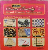 Classic Family Board Games Assortment - 9 Games in One!