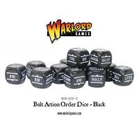 Bolt Action Dice Bag & Order Dice - Black w/White (12)