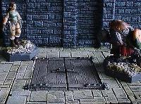 6x6cm Dungeon Floor w/Double Trapdoor