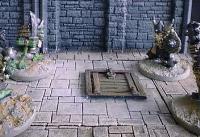 6X6cm Dungeon Floor w/Small Trapdoor