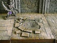 6x6cm Dungeon Floor w/Damage