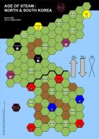 Age of Steam Expansion - Las Vegas/Korea & Cyprus/Tibet