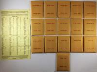 APBA Baseball 1934 Player Cards - Complete Set (1981 Printing)