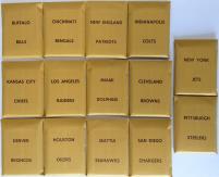 APBA Football 1984 Player Cards