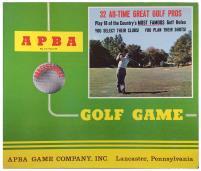 APBA Professional Golf Game