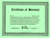 Certificate of Survival