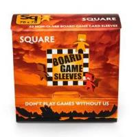Board Game Card Sleeves - Non-Glare, Square (50)