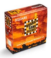 Board Game Card Sleeves - Non-Glare, Square (50)