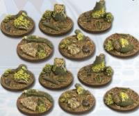 25mm Deep Forest Bases - Round