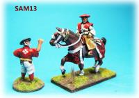 Mounted Samurai Lord and Retainer