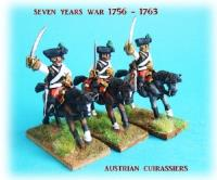 Austrian Cuirassiers on Charging Horses