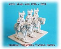 Austrian Cuirassiers on Standing Horses