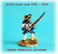 French Musketeers Unit Advancing