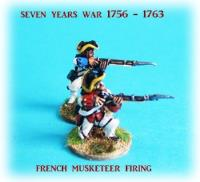 French Musketeers Unit Firing