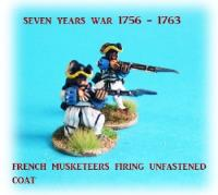 French Musketeers Firing w/Unfastened Coat
