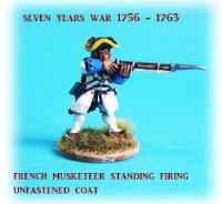 French Musketeers Standing Firing w/Unfastened Coat