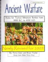 Ancient Warfare - Rules for Tactical Miniature Battles from 3000BC - 450AD (Revised Edition)
