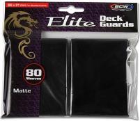 Elite Matte Card Sleeves - Black (80)