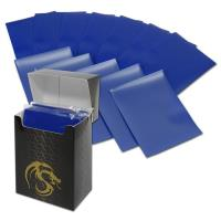 Double Matte Card Sleeves - Blue (80)