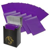 Double Matte Card Sleeves - Purple (80)