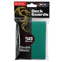 Double Matte Card Sleeves - Teal (50)