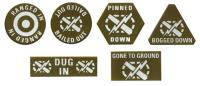 2nd Armored Division Dice & Token Set