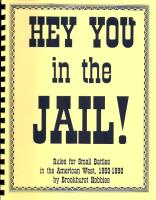 Hey You in the Jail!