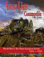 Army Lists #1 - The Main European Fronts, 1914-1918 (3rd Edition)