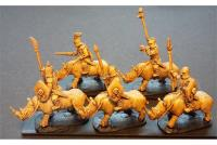 Cavalry w/Spears and Shields on Unarmored Rhinos (Half-Pack)