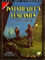 1920's Investigator's Companion, The (2nd Printing)