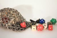 Stainless Steel Chainmail Dice Bag - Small