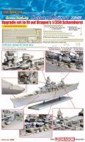 """1:35 Photo-Etched Railing Upgrade Set for """"Scharnhorst"""""""
