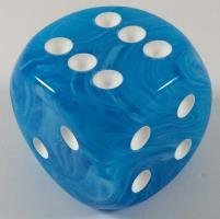 D6 50mm w/pips Light Blue/white