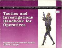 Blackeagle/Blackeagle Operative's Kit -  Tactics and Investigations Handbook - Book Only!