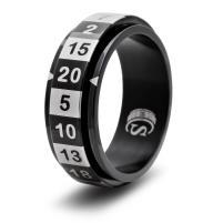 Dice Ring - Black, Size 12 (d20)