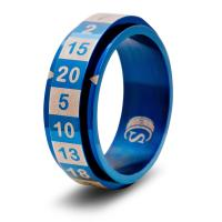 Dice Ring - Blue, Size 11 (d20)