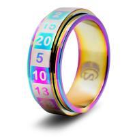 Dice Ring - Rainbow, Size 11 (d20)