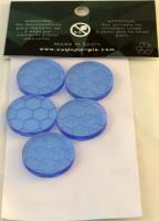 25mm Bases - Blue, Etched