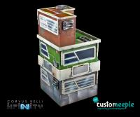 Neon City Residential Building - 2 Small Pack, acrylic windows