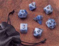 Blue Jasper 14mm (7 pc. set) w/Pouch