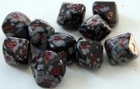 Snowflake Obsidian (black/white) (10 pc. set of d10's) w/Pouch
