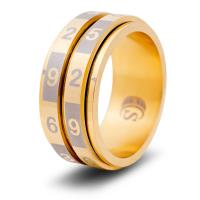 Dice Ring - Gold, Size 10 (d100)