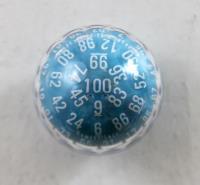 d100 Zocchihedron Blue w/White