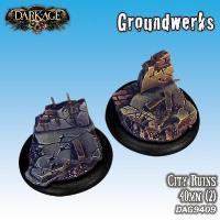 40mm Groundwerks Base Inserts - City Ruins