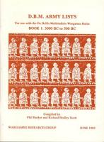 DBM Army Lists #1 - 3000 BC to 500 BC (1st Edition)